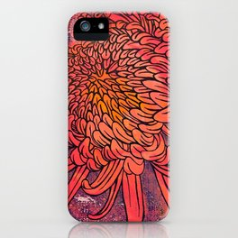 Chrysanthemum (Silk screen & fine liner) iPhone Case