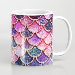 Pink & Purple Trendy Glitter Mermaid Scales Coffee Mug