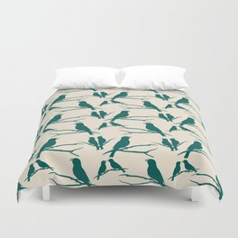 Rustic Green Bird Duvet Cover
