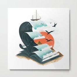 Waves of Knowledge Metal Print