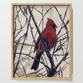 Mr. Cardinal Serving Tray
