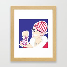 Candy Cane Girl Framed Art Print