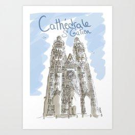 Cathédrale de Tours Art Print