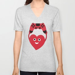 Gaming Heart Unisex V-Neck