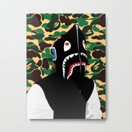 Bape Shark hoodie Metal Print
