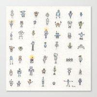 robots Canvas Prints featuring robots by Julia Heffernan