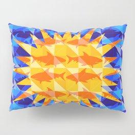 Sunsharks On Blue. Pillow Sham