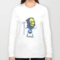 skeletor Long Sleeve T-shirts featuring Skeletor by Rod Perich