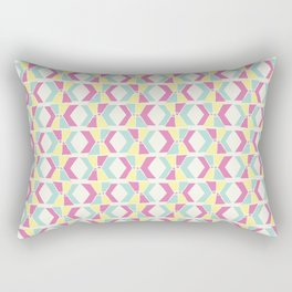 Magenta, Yellow, and Turquoise geometric hourglass pattern Rectangular Pillow