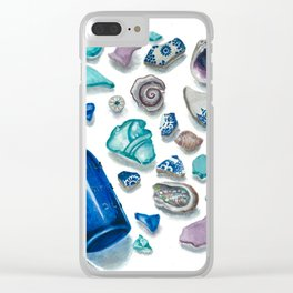 Bits From The Sea Clear iPhone Case