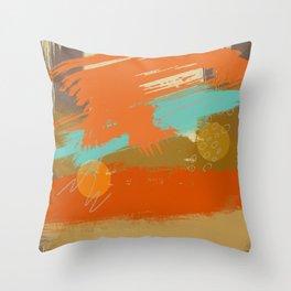 Secret Places, Abstract Landscape Art Throw Pillow