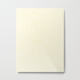 Spacey Melange - White and Blond Yellow Metal Print