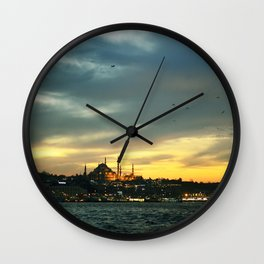 İstanbul Sunset Wall Clock