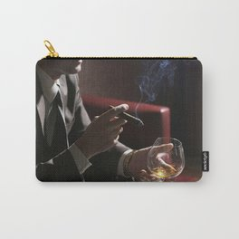 Businessman Cigar and Whiskey Carry-All Pouch