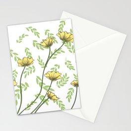 Daisy Wildflower Botanical Nature Pattern Stationery Cards