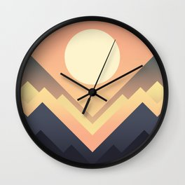 The Sun Rises Wall Clock
