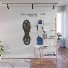 Baseball Cleat Patent Wall Mural