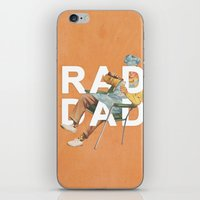 dad iPhone & iPod Skins featuring Rad Dad by Heather Landis