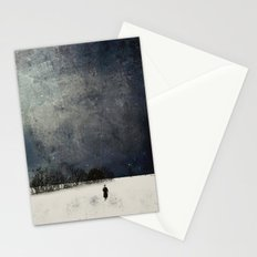 Winter walk Stationery Cards