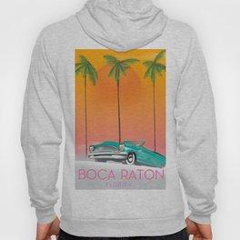 Boca Raton Florida travel poster Hoody