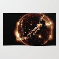 miles davis Area & Throw Rugs featuring Miles Davis - Jazz´n away by ARTito