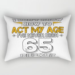 Funny Birthday Gift 65 Years Sixty Born in 1953 Rectangular Pillow