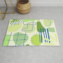 Suburbia from Above - Abstract Postmodern Retro Pattern Rug