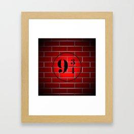 peron brick wall Framed Art Print