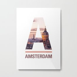 A-msterdam Metal Print