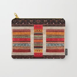 Bohemian Oriental Traditional Moroccan Rug Style Illustration Carry-All Pouch