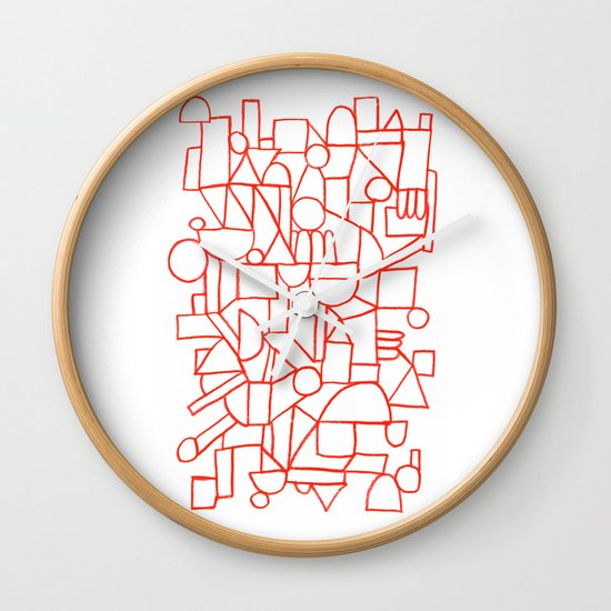 Rad lines Wall Clock