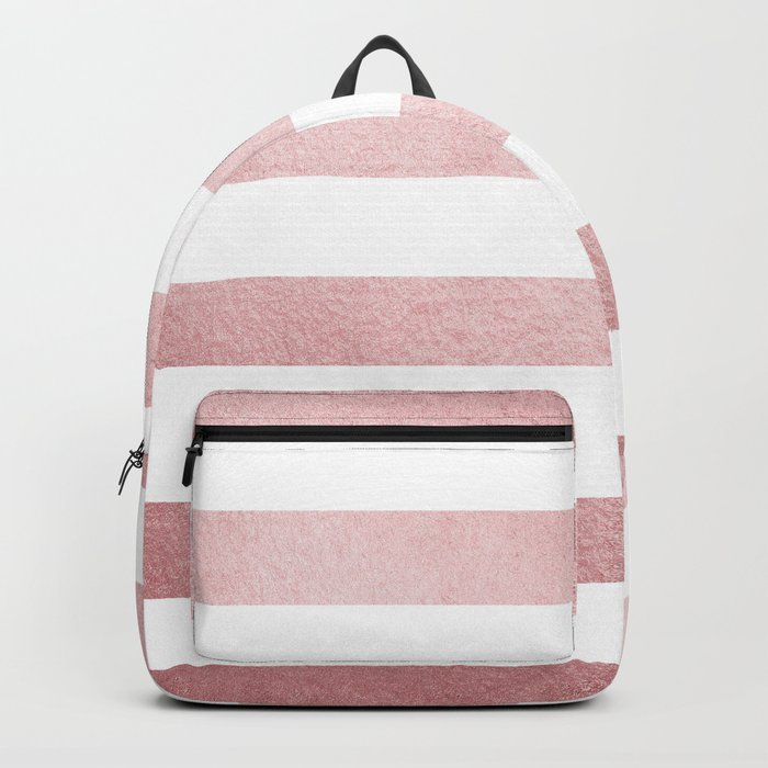 Simply Stripes in Rose Gold Sunset Backpack
