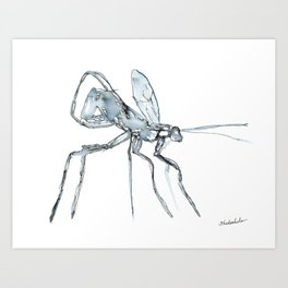 Mosquito, Watercolor Art Print