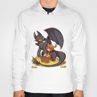 how to train your dragon Hoodies featuring How to Train your dragon! by SweetOwls