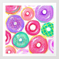 donuts Art Prints featuring Donuts by Sara Berrenson