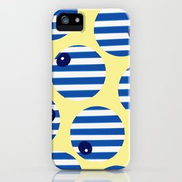 snooker balls in blue iPhone Case