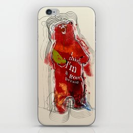 I think I'm a good person iPhone Skin