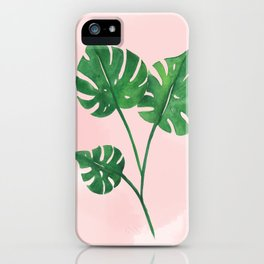 Watercolor tropical leaf iPhone Case