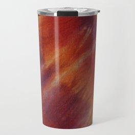 Tie Dye Red Orange Travel Mug
