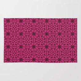 Pink Yarrow Lace Rug