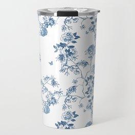 Chinoiserie in White Travel Mug
