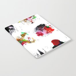 9 abstract rituals Notebook
