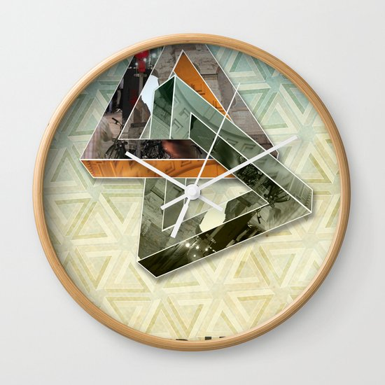 escher hitch Wall Clock