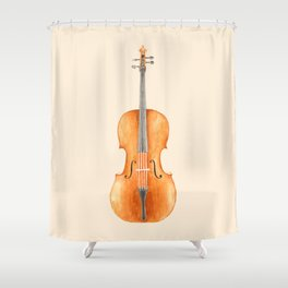 Cello - Watercolors Shower Curtain