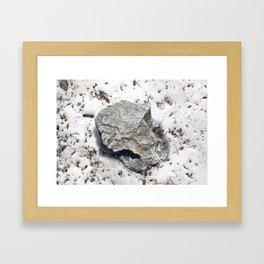 STONES SNOW NUGGET Framed Art Print