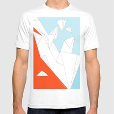 paperwings Mens Fitted Tee White MEDIUM