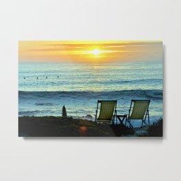 Modern Cambria CA Sunset Metal Print