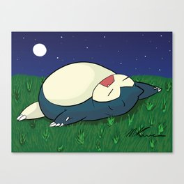 Snorlax Sleeping Canvas Print