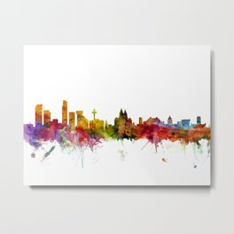 Liverpool England Skyline Cityscape Metal Print