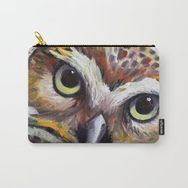 Burrowing Owl Palette Knife Painting in Oil by Award Winning San Francisco Bay Artist Lisa Elley Carry-All Pouch